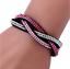 Women-039-s-Bling-Rhinestone-Leather-Crystal-Multilayer-Bracelet-Clasp-Bangle-HOT-AU
