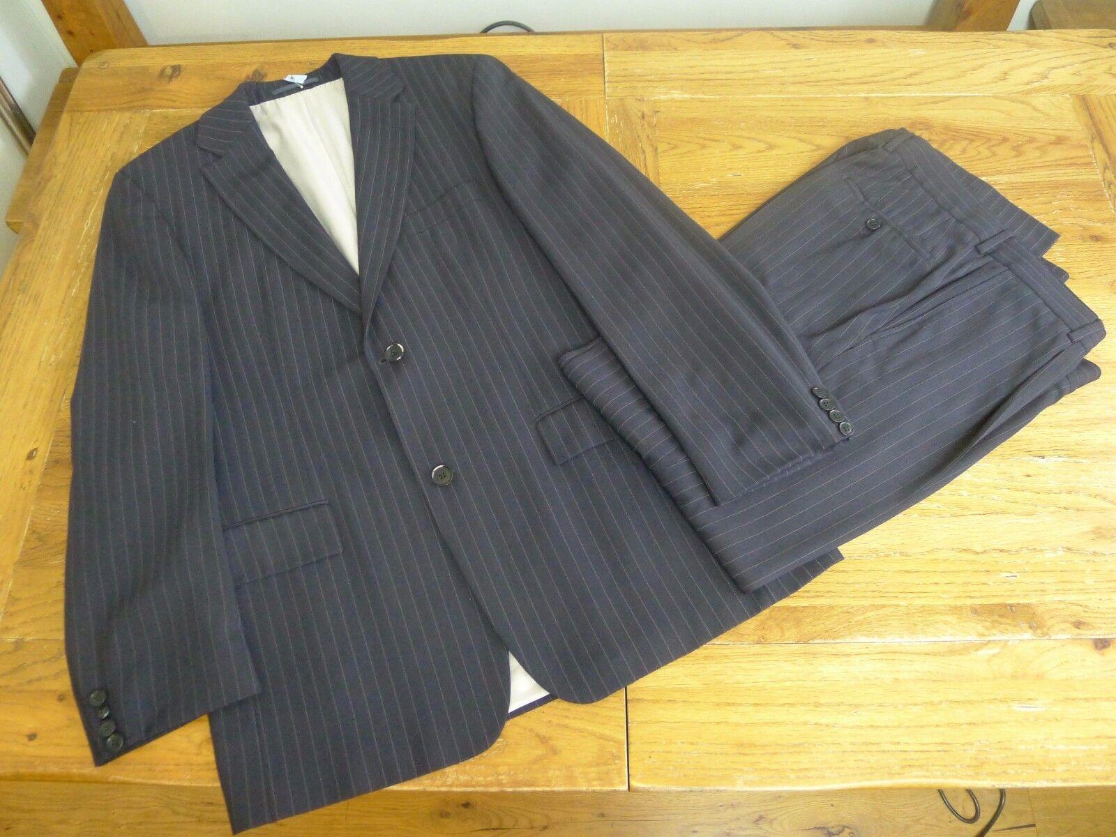 Hugo Boss striped navy Blau Herren suit Größe 50