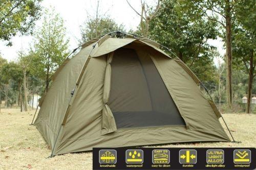 Ruck Zuck Zelt Bivvy Karpfenzelt Campingzelt 2 Mann Angelzelt 250x250x160 cm