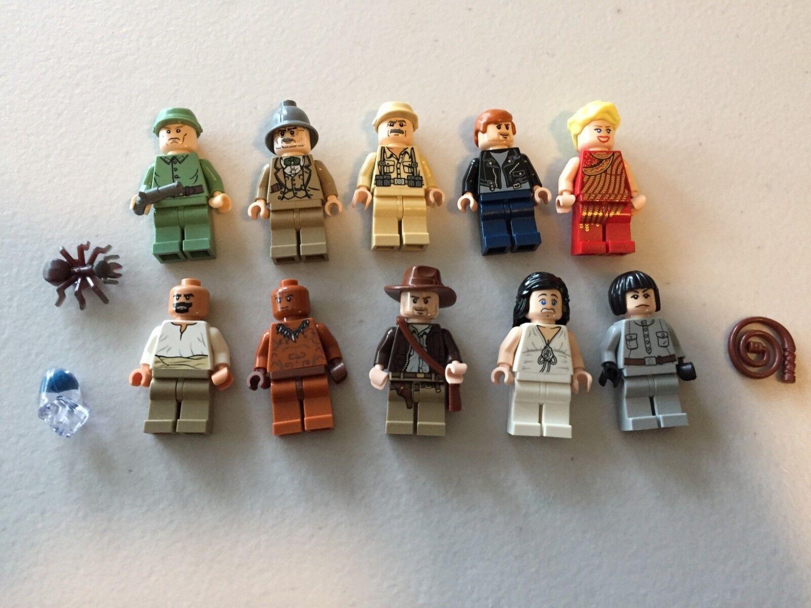 LEGO INDIANA JONES MINI FIGURE LOT OF 10 INDY Spinkova Marian s494B