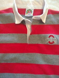 Ohio State Buckeyes Woman's Rugby Red/Grey Longsleeve ...