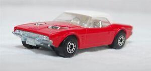 MATCHBOX SUPERFAST - R-001C VER 1, DODGE CHALLENGER, RED, UNP BASE JB1387