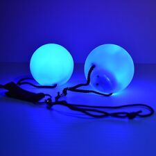 LED Light up Poi Ball Set with 7 color Modes Soft Material - Juggling Set (pair)