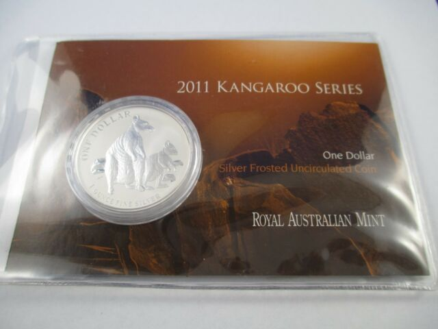 COMPLETE!!! SILVER KANGAROO $1 SILVER FROSTED UNCIRCULATED COIN 1995 RAM