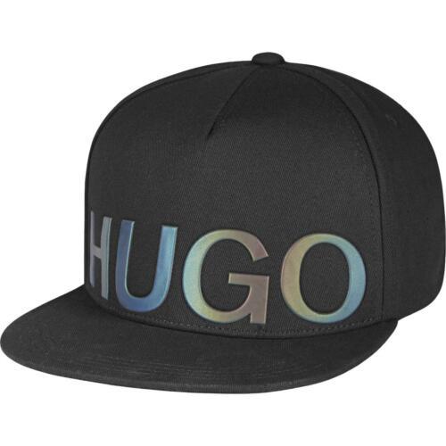 Hugo Hugo Boss Mens Black Snapback Logo Sport Ball Cap Hat O//S BHFO 2829