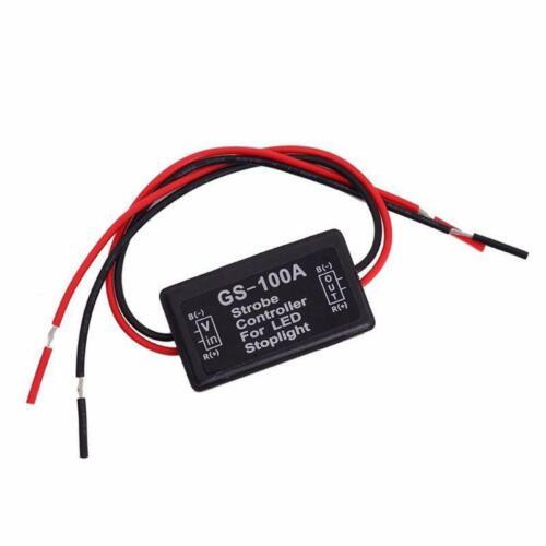 Car Auto GS-100A 12V LED Brake Tail Stop Light Strobe Flash Controller Box Light