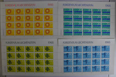 Mw 80,- Kompl. N6 Liechtenstein 460-463 Kleinbogensatz Postfr 2