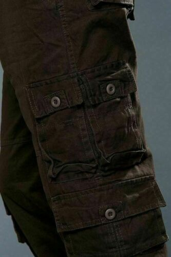 Men Camouflage Cargo Trousers Work Pants Pocket Casual Army Thick Loose Outdoor