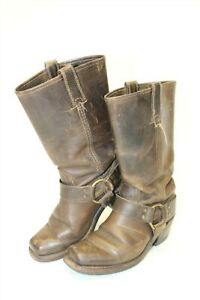 DISTRESSED-Frye-Womens-Size-6-M-Harness-12R-Leather-USA-Made-Boots-77300