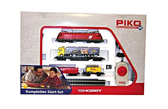 PIKO 57170 Start Set electric locomotive ÖBB Taurus with 3 Freight Car NIP