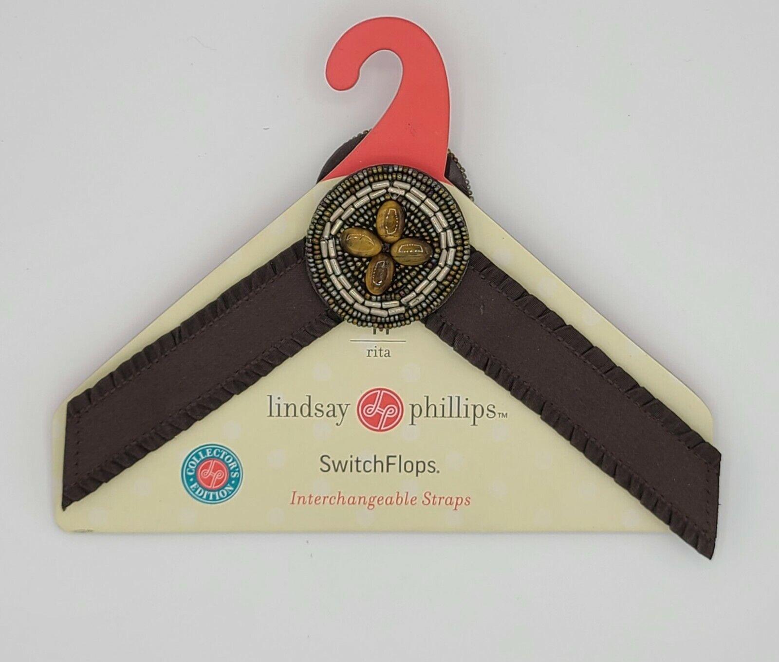 Retired Lindsay Phillips Switch Flops Straps Style Rita, Beads Size: Medium