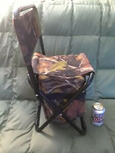 Terrific Details About Camouflage Outdoor Folding Stool Cooler Bag W Backrest Beach Fishing Camp Chair Pdpeps Interior Chair Design Pdpepsorg