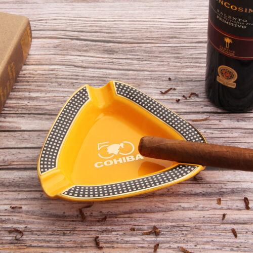 Cohiba Cigar Ashtray Holder  Ceramic Holder 3 Cigars Outdoor Ashtrays Gift Box