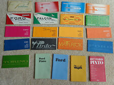 LOT of 21 Ford Misc Owners Manuals Torino Falcon Maverick Pinto Capri PRISTINE