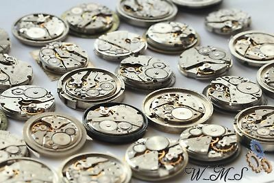 Watch Parts Movements Set 20 Russian Men's 22 -26 Mm Steampunk Art Diy