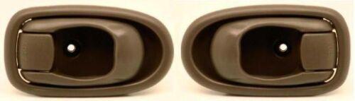 LEFT /& RIGHT Inside Interior Inner Door Handle Tan for 2002-2004 KIA SPECTRA