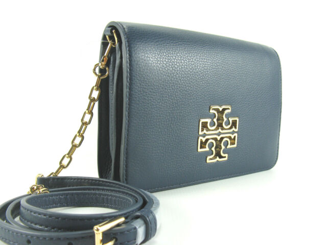 6157f2a2d5b6 NWT Tory Burch Britten Combo Crossbody Leather Bag in Hudson Bag Authentic