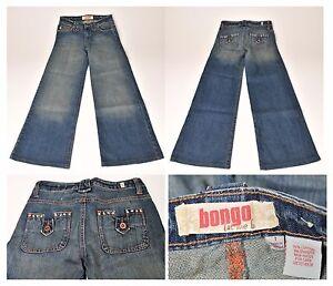 Women-039-s-Juniors-Bongo-Size-1-Distressed-Denim-Blue-Stretch-Jeans-26x28