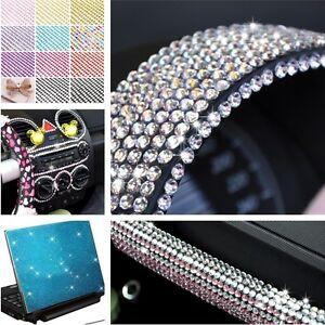 3-4-5-6mm-Self-Adhesive-Diamante-Stick-Rhinestones-Gems-Crystals-Beads-Car