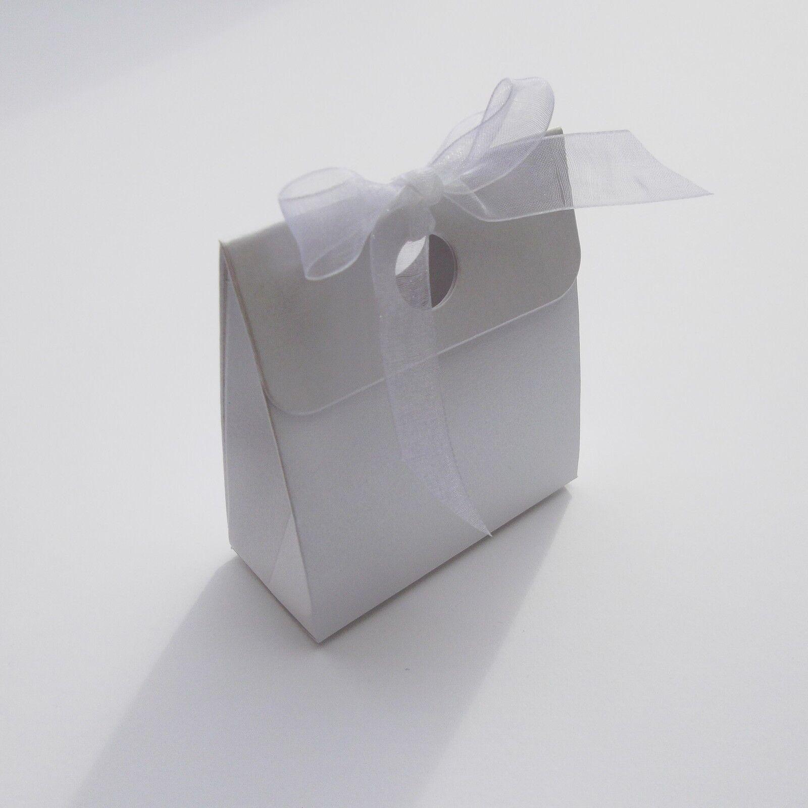 BIANCO Favore PERLA SCATOLA SACCHETTO Matrimonio Favore BIANCO Box-Scegli Q.tà - Natale, compleanni 83b47e