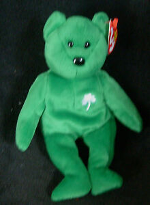 f681e9f4f50 TY original beanie baby ERIN St Patricks Green Bear date of birth ...
