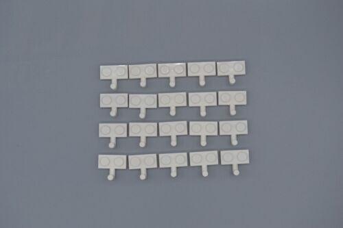 LEGO 20 x Platte 1x2 mit Haken weiß white plate w hook 4623 462301