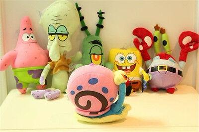 UK 6PCS SpongeBob SquarePants Patrick Star Squidward Tentacles Plush Soft Toys