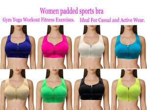 UK Womens Running Fitness Stretch Seamless Sports Bra Bralette Gym Yoga Crop Top