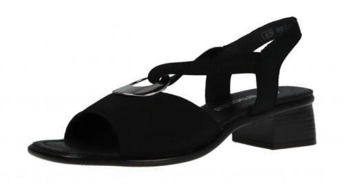 Schwarz R5953-01 Remonte Damen Sandale//Sandalette LILLI NERO