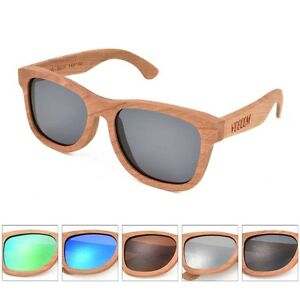 84465dbab4 Image is loading VOBOOM-Handmade-Natural-Bamboo-Wood-Sunglasses-Mirrored- Wooden-