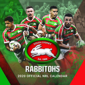 2020 Nrl South Sydney Rabbitohs Square Wall Calendar By Paper Pocket 30 X 30cm Ebay