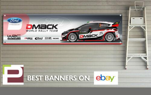ST WRC Car Garage Ford Fiesta D Mack 2017 Rally Team Banner for Workshop RS