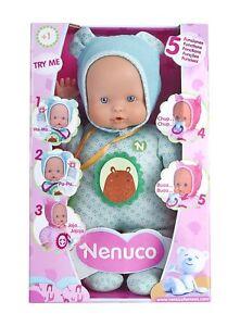 Nenuco-Blandito-Muneco-con-5-Funciones-color-Azul-Juguete-Muneca-Nina-Pequena