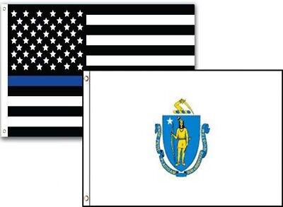 2x3 USA Police Blue Louisiana State 2 Pack Flag Wholesale Set Combo 2/'x3/'