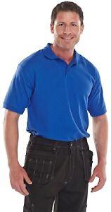 Click-Royal-Blue-Premium-Heavyweight-Polycotton-Short-Sleeve-Pique-Polo-Shirt