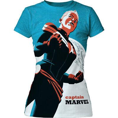 0f7bb20f29e5 Details about Captain Marvel (Carol Danvers) T-Shirt - Ladies Juniors XL -  NOS