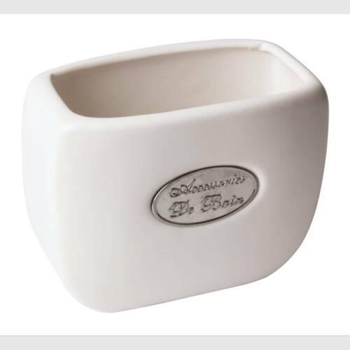 Rocher Zahnputzbecher 10.50 x 6.00 x 8.50 cm Weiß