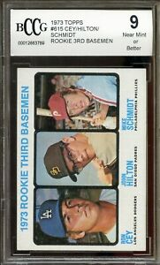 1973 Topps #615 Mike Schmidt Rookie Card BGS BCCG 9 Near Mint+ (Rare Centered)