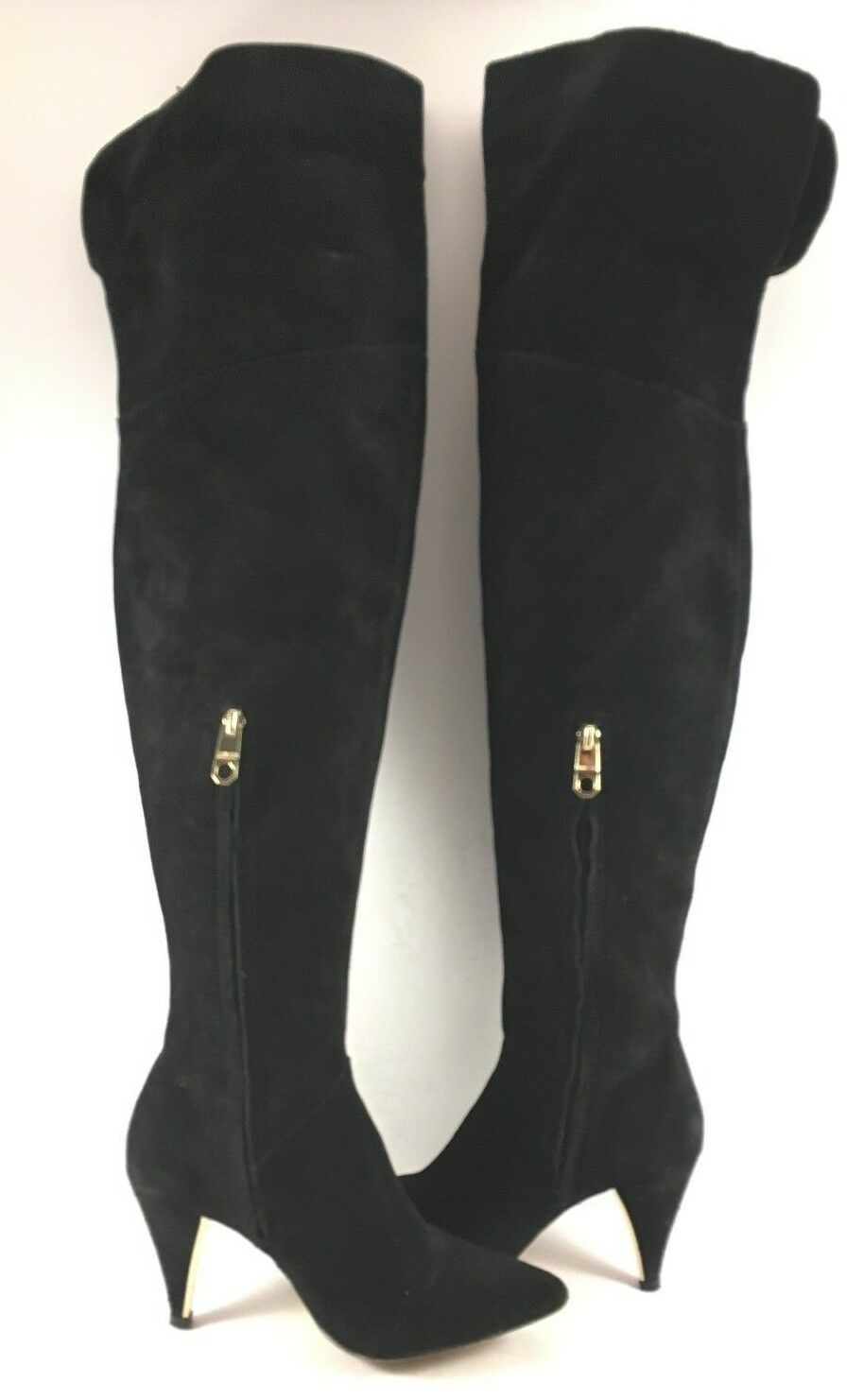 Louise & Cie Black Suede Willess Over The Knee Boots Womens Size US 6.5M