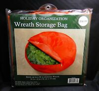 Red Holiday Christmas Wreath Storage Bag For 30 Inch Wreaths - Free Shipping
