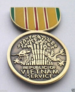 VIETNAM-SERVICE-MEDAL-Military-Veteran-Hat-Pin-14759-HO