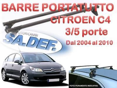 BARRE DA TETTO CITROEN C4 II 5 PORTE  2010-/> KIT PORTATUTTO