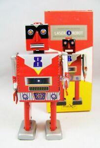 Saint-John-Laser-Robot-Giocattolo-Di-Latta-Retro-Da-Collezione