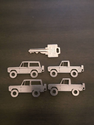 1966-1996 Ford BRONCO Keychain Leather Key Fob w// Bronco Logo  GREAT GIFT