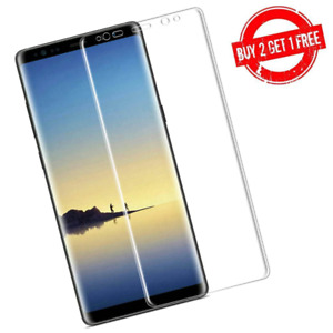 Samsung Galaxy Note 8 Full Coverage Clear Case Compatible Film Screen Protector