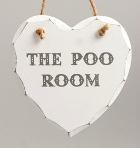 Shabby Chic Wooden Heart Hanging Wall Plaques / Door Signs - Choice of Designs