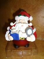Traditions Santa Claus Glass Christmas Tree Ornament Damaged Box