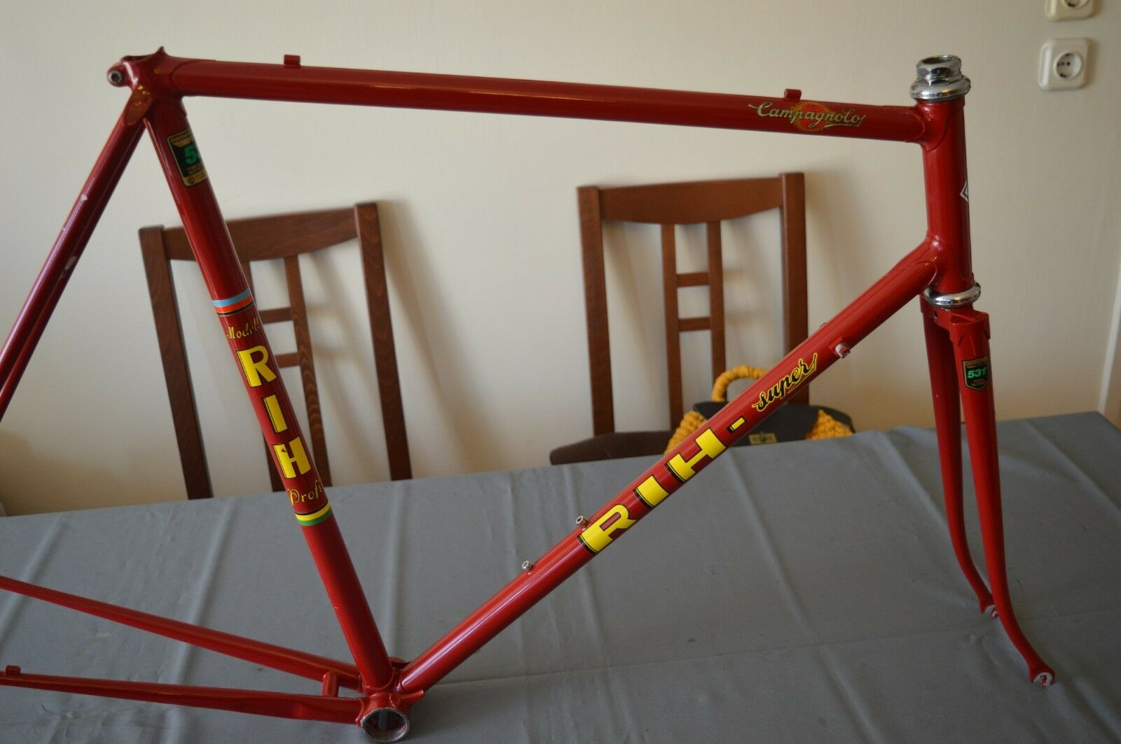 Vintage RIH Super Super Super frameset Reynolds 531 with Campagnolo Nuovo Record headset 0e9a05