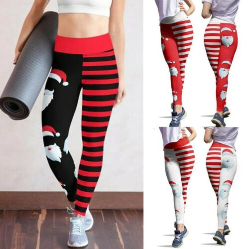 Women Halloween/&Christmas Skinny Pants High Waist Stretch Slim Leggings Trousers