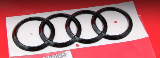 Audi SQ5 Q5 S-Line 8R Ringe Emblem Logo Schwarz Hochglanz Klavierlack Heck